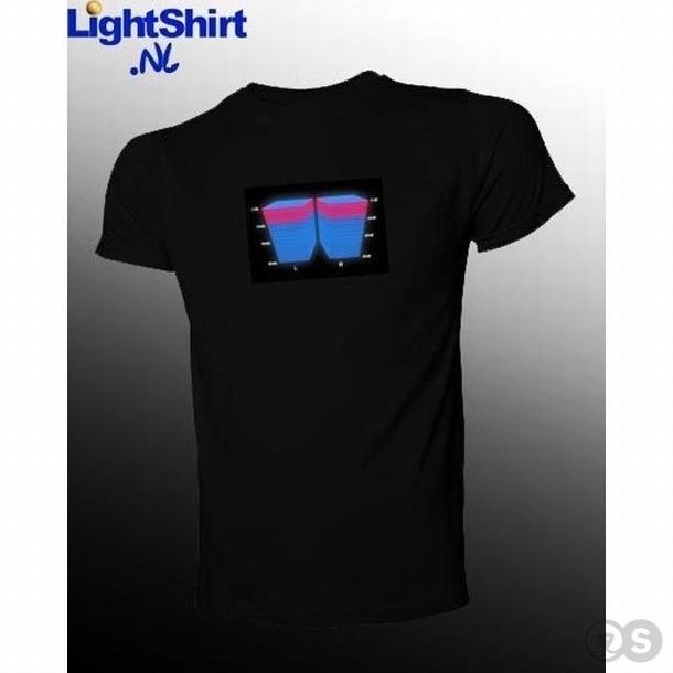 Lichtgevende T-Shirt met Equalizer display Master Volume 3D