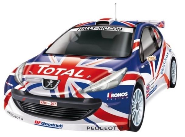 Nikko Peugeot 207 IRC UK EVO pro line semi prof rc auto 1:14