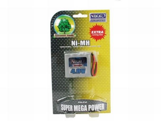 Nikko 4.8V 700 mAh NiMH Mega Pack accu battery met stekker