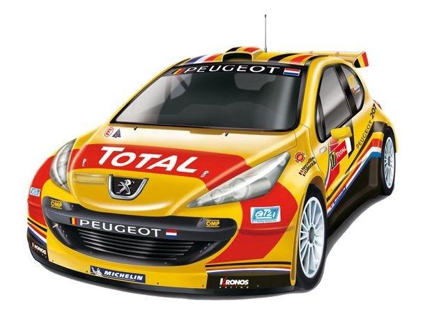 Nikko Peugeot 207 IRC BELGIUM EVO pro line semi rc auto 1:14