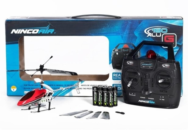 Ninco Air Mini Alu Twin 180 Gyro RTF speelgoed RC Helikopter