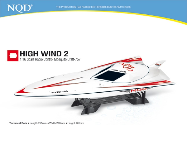 NQD High Wind 757 Newqida speelgoed modelbouw speed RC boot
