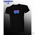 Lichtgevende T-Shirt met Equalizer display Master Volume 3D