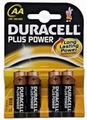 Duracell AA LR6 MN1500 bl/4 Plus Power alkaline Batterijen